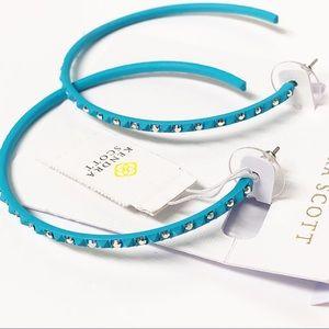 Kendra Scott • Val Hoop Earrings in Aqua